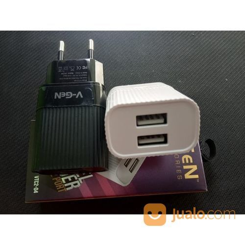 Charger v gen dual po aksesoris handphone dan tablet lainnya 21118563