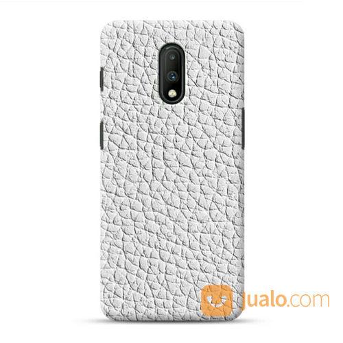 White Leather One Plus 7 Custom Hard Case (21139075) di Kota Bekasi