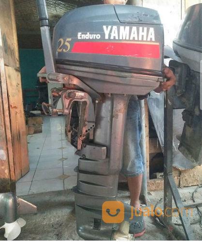 Mesin Tempel Speed Boat Yamaha 25pk 2tak Kondisi 85% (21168955) di Kab. Purwakarta
