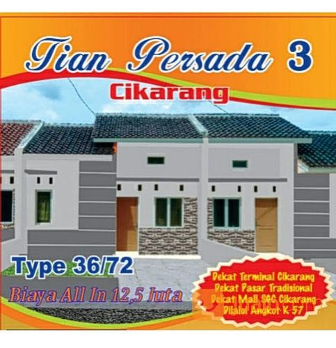 Rumah Komersil Dekat Stasiun KRL Cikarang (21281115) di Kab. Bekasi