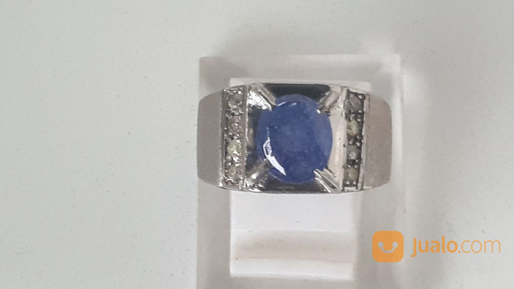 Batu Cincin Blue Safir Lapis Berlian (21478887) di Kota Jakarta Timur