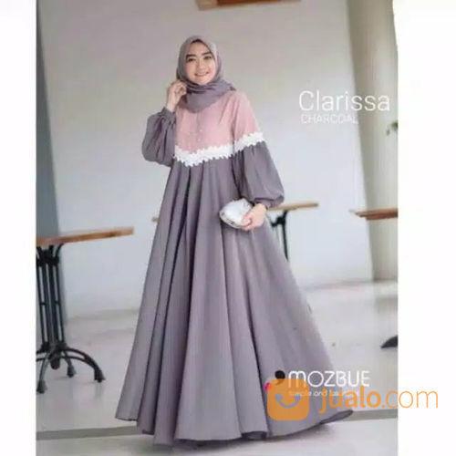 Clarissa Dress Baju Muslim Baju Wanita Terbaru Grosir Gamis Dress Wanita Longdress Gamis Terbaru Kab Cilacap Jualo