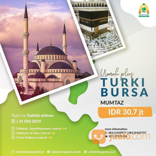 UMROH PLUS TURKI BURSA (21636375) di Kota Tangerang