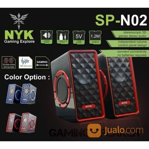 Speaker Stereo Komputer Pc Laptop NYK N02 Speaker Portable A45 (21732011) di Kota Surakarta