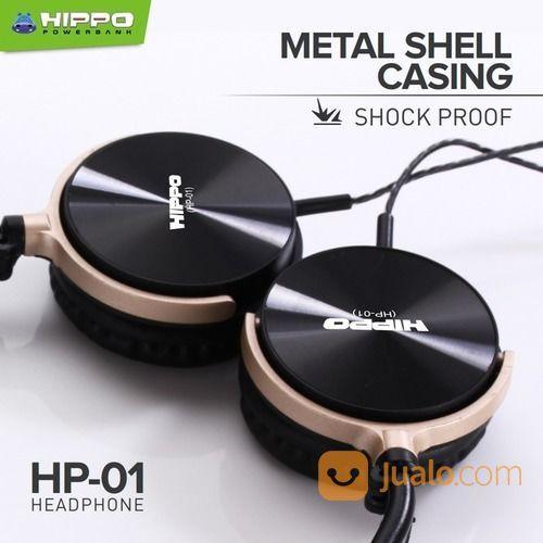Hippo Headphone HP-01 Music & Telp Microphone - Headset Hippo HP-01 (21736403) di Kota Surakarta