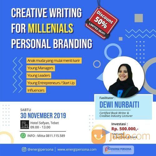 Creative Writing For Millenials Personal Branding (21799771) di Kota Jakarta Selatan