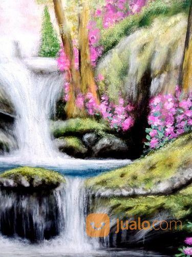 Lukisan Air Terjun (21911231) di Kota Denpasar