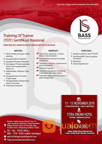 TRAINING OF TRAINER SERTIFIKASI BNSP KKNI LEVEL 3 - PUBLIC TRAINING - NOVEMBER (21960331) di Kota Tangerang Selatan