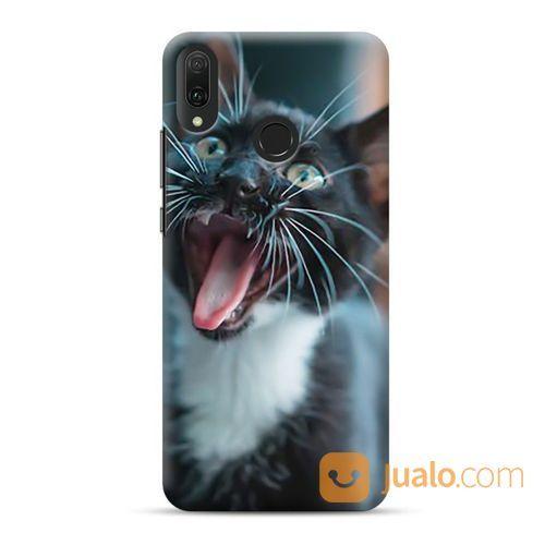 Cat With Open Mouth Huawei Y9 2019 Custom Hard Case (22042519) di Kota Bekasi