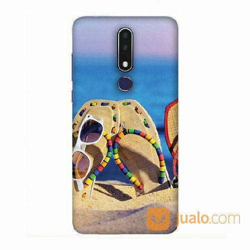 Cute Flip Flops On Beach Nokia 7.1 Custom Hard Case (22069671) di Kota Bekasi