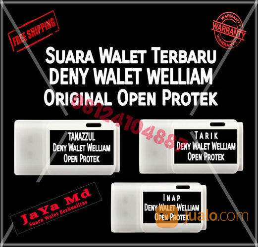 Paket 3 Suara Walet Terbaru Deny Walet Welliam Original Open Protek PO (22079895) di Kab. Sidenreng Rappang