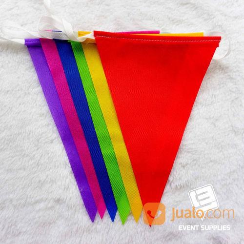 Bendera Renteng Festival Bunting Flag Segitiga Warna Warni Panjang Berkualitas 6 Meter (22149087) di Kab. Bantul