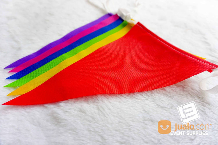 Bendera Renteng Festival Bunting Flag Segitiga Warna Warni Panjang Berkualitas 6 Meter (22149091) di Kab. Bantul