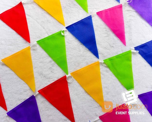 Bendera Renteng Festival Bunting Flag Segitiga Warna Warni Panjang Berkualitas 6 Meter (22149095) di Kab. Bantul