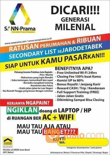 Di Butuh Kan Tenaga Marketing Properti Freelance Bogor Jualo