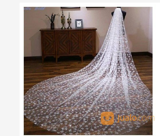 Veil 1 Layer 4 Meter Veil Wedding Slayer Pengantin Slayer Wedding Accessories Wedding Tangerang Jualo