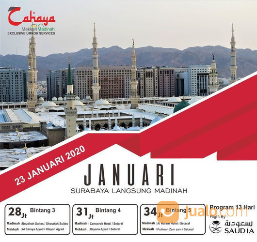 Promo Paket Umroh Bulan Januari 2020 (22247819) di Kota Surabaya
