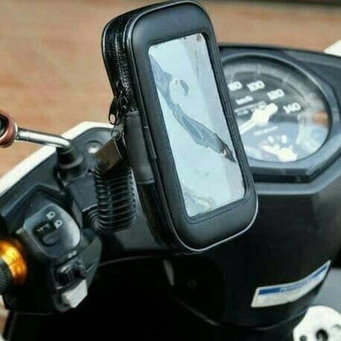 Holder Hp Motor Spion 5.5 Inch Waterproof Gojek Grab