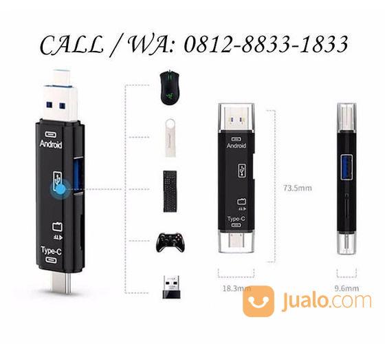 OTG Card Reader USB 5 In 1 (Type C, Micro USB, MicroSD, TFT, USB) Kualitas Bagus (22553959) di Kota Jakarta Barat