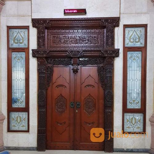 Pintu Gebyok Ukiran Model Klasik Bahan Kayu Jati Tua 01 | Bandar Lampung | Jualo