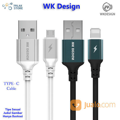 WK Design TYPE C Cable Autodisconnect 2.4A 1 Meter (22566683) di Kota Tangerang
