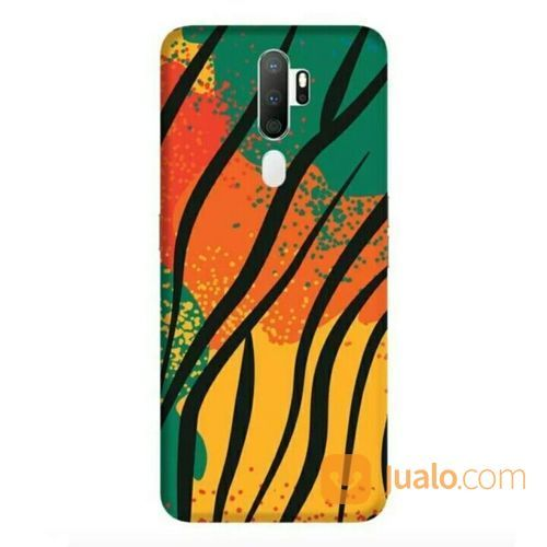 Colourful Animal Pattern Oppo A5 2020 Custom Hard Case (22626399) di Kota Bekasi