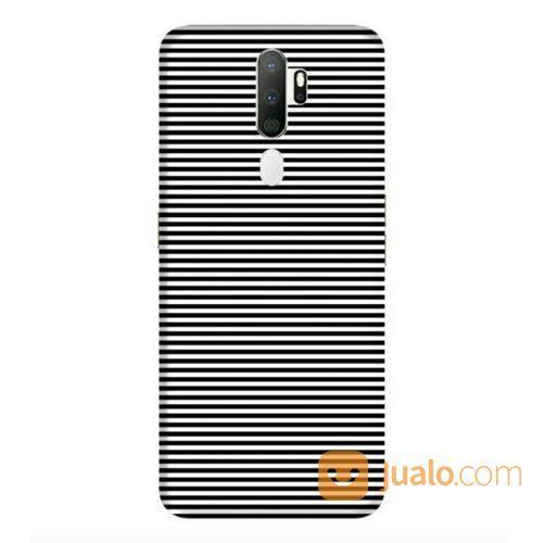 Black Stripes Oppo A5 2020 Custom Hard Case (22626411) di Kota Bekasi