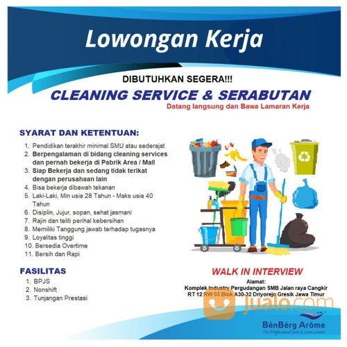 Dibutuhkan Segera Cleaning Serabutan Kab Gresik Jualo