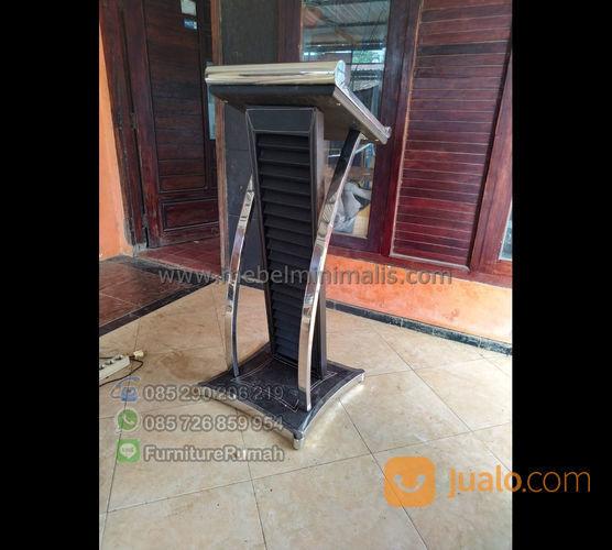 Podium Minimalis Stainless Model Krepyak Modern Kulit Sintetis (22731639) di Kota Padang