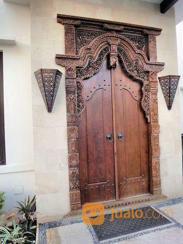 Pintu Gebyok Ukir Model Rumah Klasik Bahan Kayu Jati Tua | Bandar Lampung | Jualo