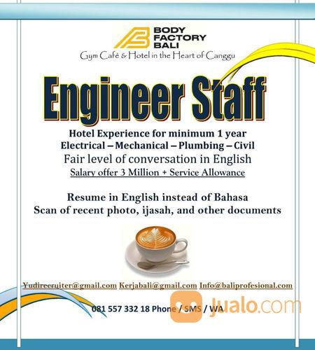 Engineer Staff For Villa At Canggu Bali Kab Badung Jualo