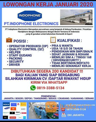 Lowongan Kerja Operator Produksi Tangerang Jualo