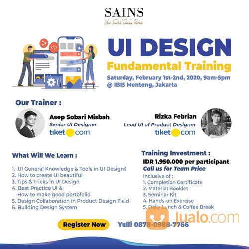 UI Design Fundamental Training With Tiket.Com (22890603) di Kota Jakarta Pusat