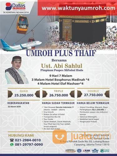 Termurah Harga Umroh Plus Thaif Tebet Jakarta (22891411) di Kota Jakarta Timur