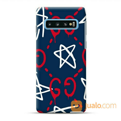 Star Drawing Red White Samsung Galaxy S10 Plus Custom Hard Case (22917235) di Kota Bekasi