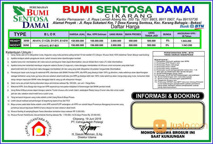 BUMI SENTOSA DAMAI Rumah Subsidi Akses KRL Stasiun CIKARANG (22926359) di Kab. Bekasi