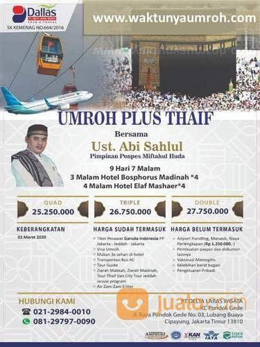 Termurah Harga Umroh Plus Thaif Pasar Rebo Jakarta (22941667) di Kota Jakarta Timur
