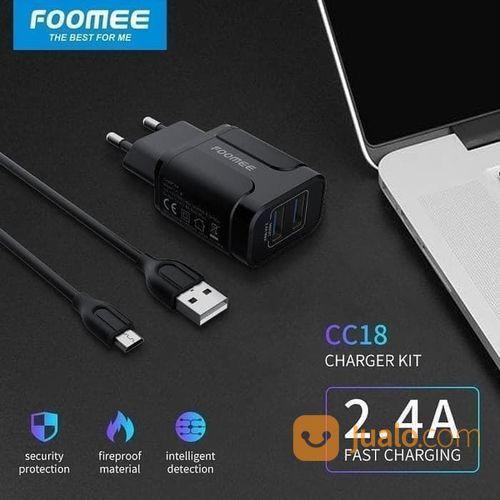 Charger Cas Foomee CC18 Charger Adaptor + Kabel Micro USB 2.4A Fast (22943387) di Kota Surakarta