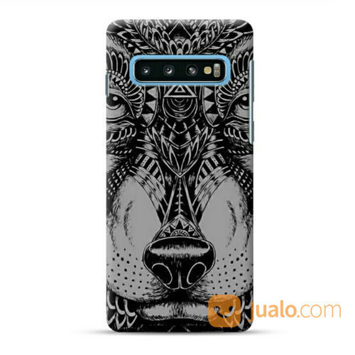 Lion Face Samsung Galaxy S10 Plus Custom Hard Case (22958395) di Kota Bekasi