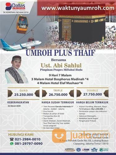 Bergaransi, Promo Umroh Plus Thaif Cilandak Jakarta (22993103) di Kota Jakarta Selatan
