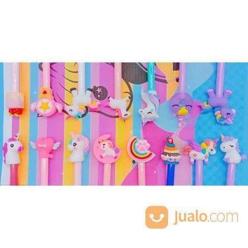 Pulpen Jelly Gel Karakter Boneka Random Cute Beli Satu Gratis Satu Refil (23001291) di Kota Jakarta Utara