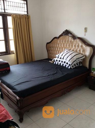 Tempat tidur kayu jat rumah tangga kamar tidur 23033851