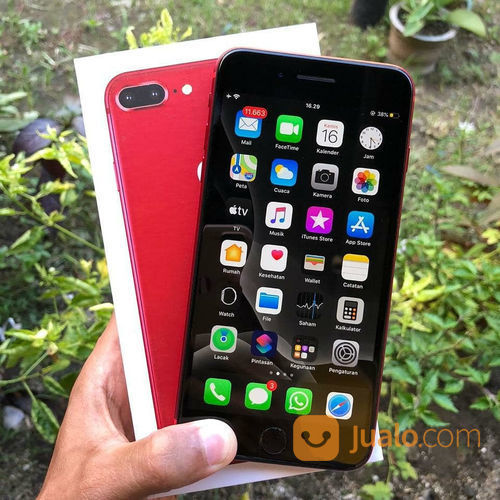 Iphone 8 64gb red pr handphone apple 23125907
