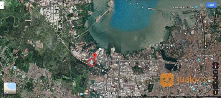 Gudang Besar Tambak Langon Surabaya Dkt Margomulyo Osowilangun (23213611) di Kota Surabaya