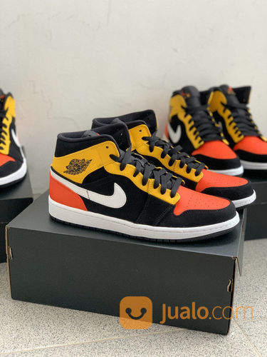 Air jordan 1 mid rayg sneakers dan sepatu olahraga 23226795