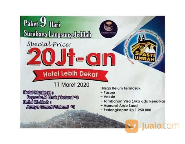 Paket Umrah 9 Hari Surabaya Langsung Jeddah (23256523) di Kab. Sidoarjo