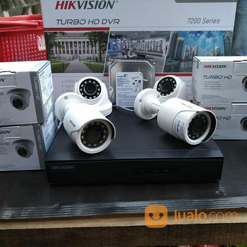 Paket Cctv Hikvision 4 Camera Cctv FULL HD 1080P 2 Megapixels (23297971) di Kota Jakarta Pusat