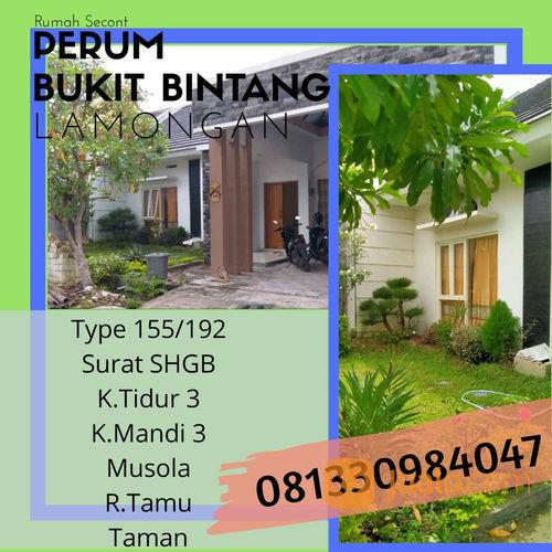 Rumah Secont Perum Bukit Bintang (23333515) di Kab. Lamongan