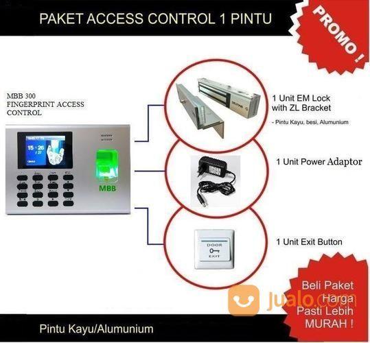 Paket Akses Kontrol Pintu Dan Mesin Absensi Fingerprint Murah MBB 300 (23422651) di Kota Surabaya
