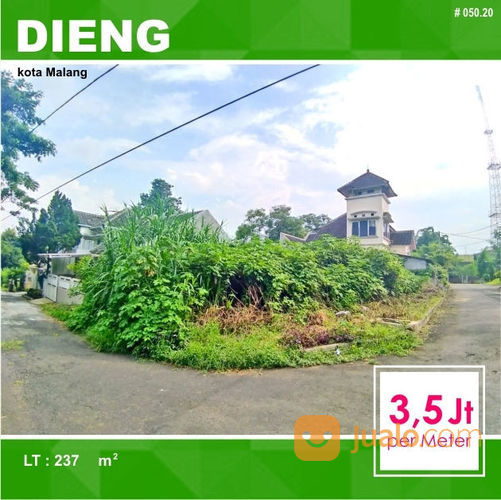 Tanah Kavling Hook Luas 237 Di Puri Dieng Kota Malang _ 050.20